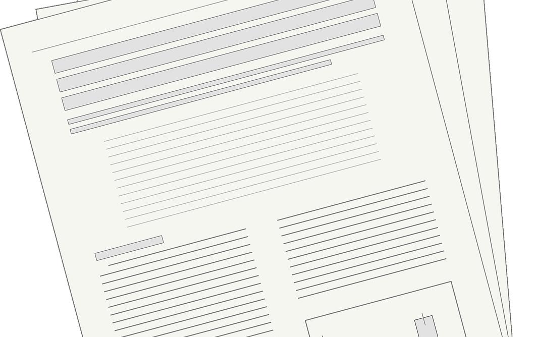 Zeichnung einer Zeitung