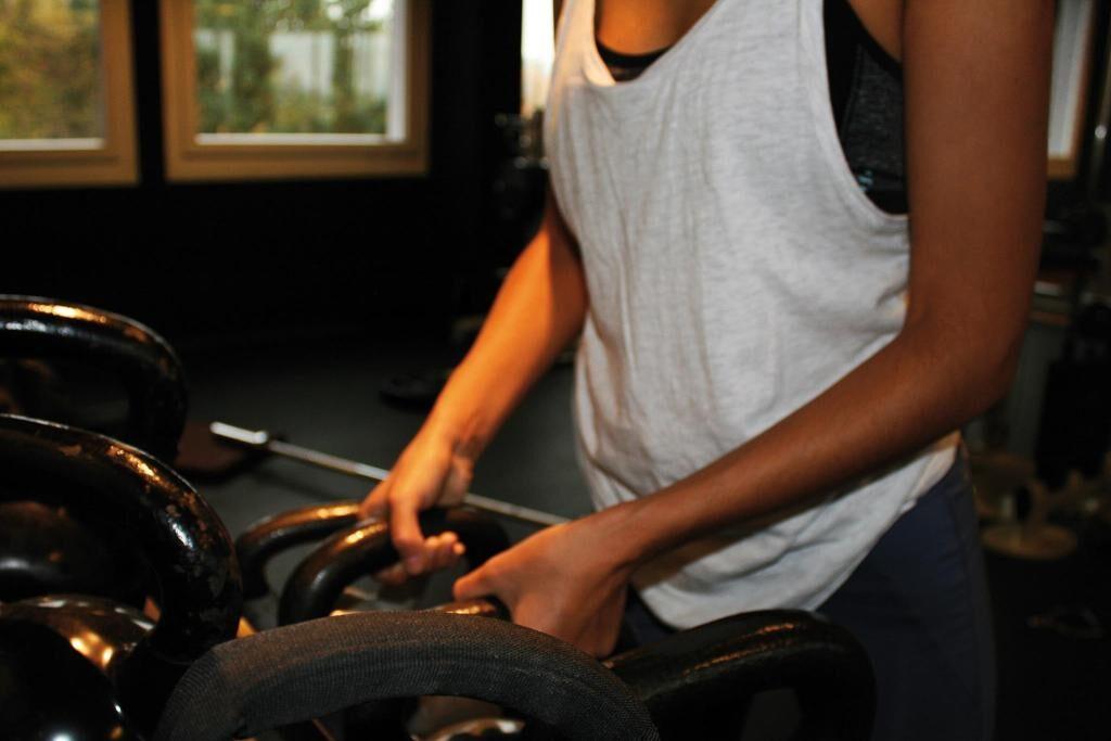 Nahaufnahme von Fitnessgeräten