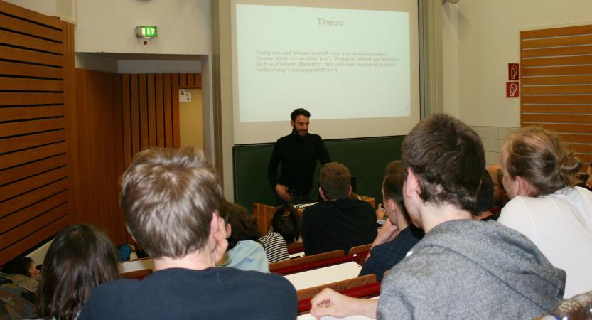 Vortrag im Hörsaal