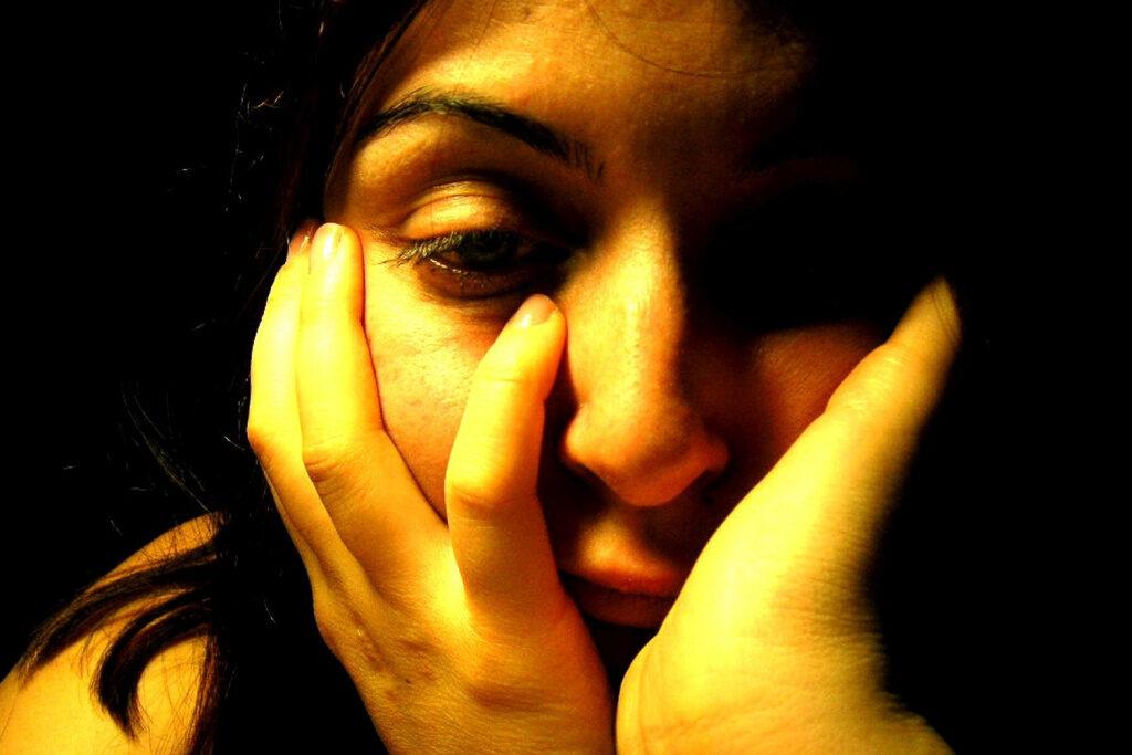 Portrait traurige Frau