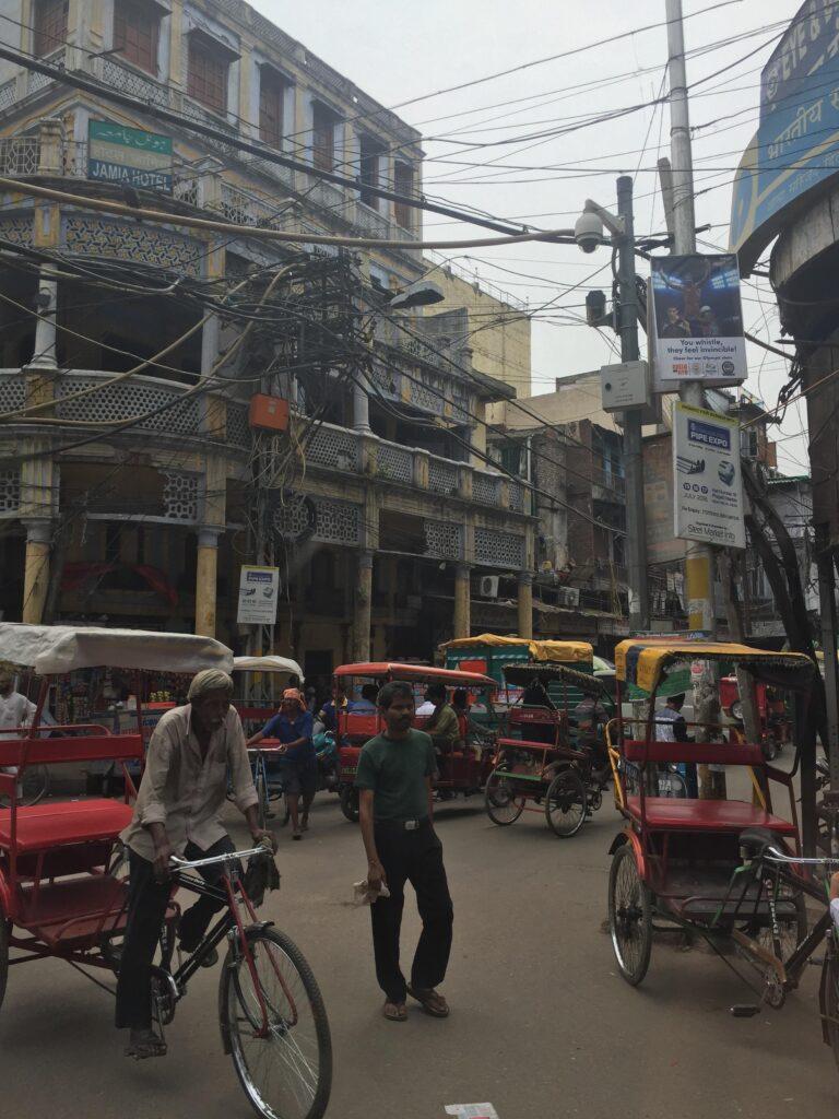 Rikscha in Stadt