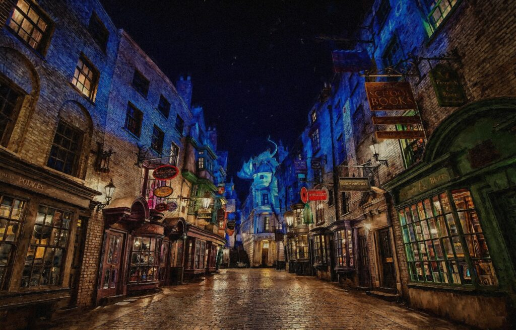 Winkelgasse aus dem Harry Potter Film