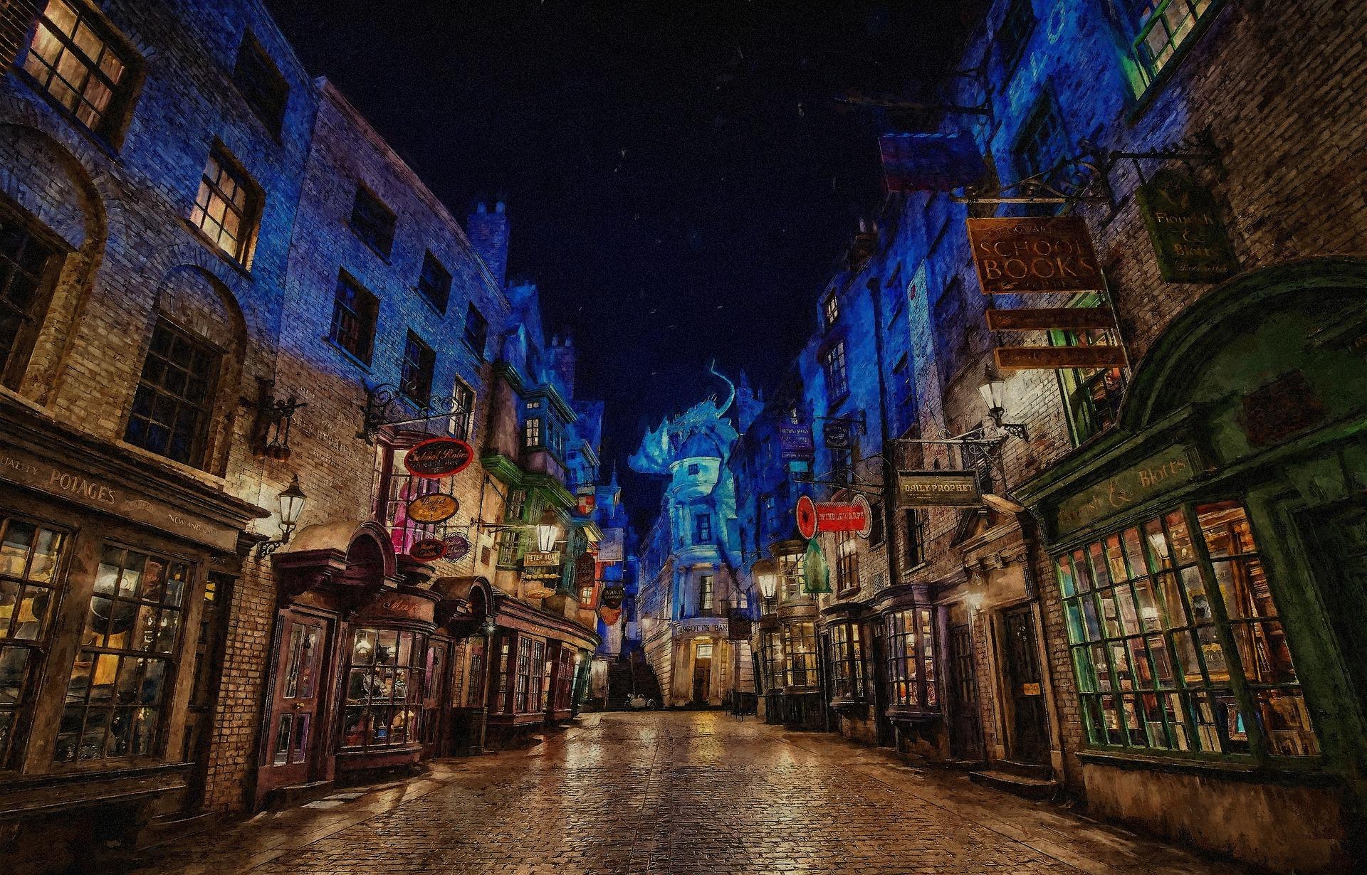 Winkelgasse aus dem Harry Potter Film
