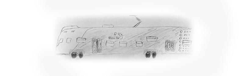 Zeichnung eines RRX-Zuges